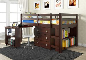 cabin-loft-bed-for-childs-small-room