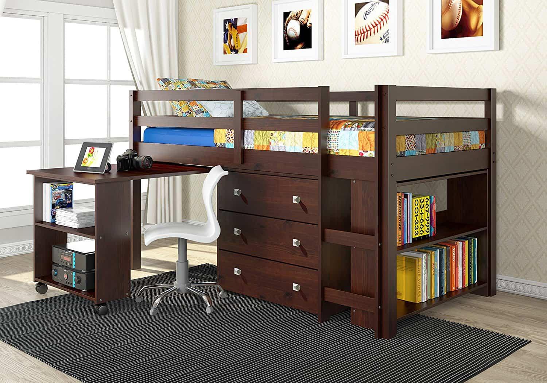 Donco Kids  Cp Low Study Loft Bed