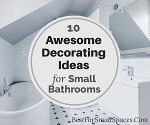Decorating tips for small bathrooms