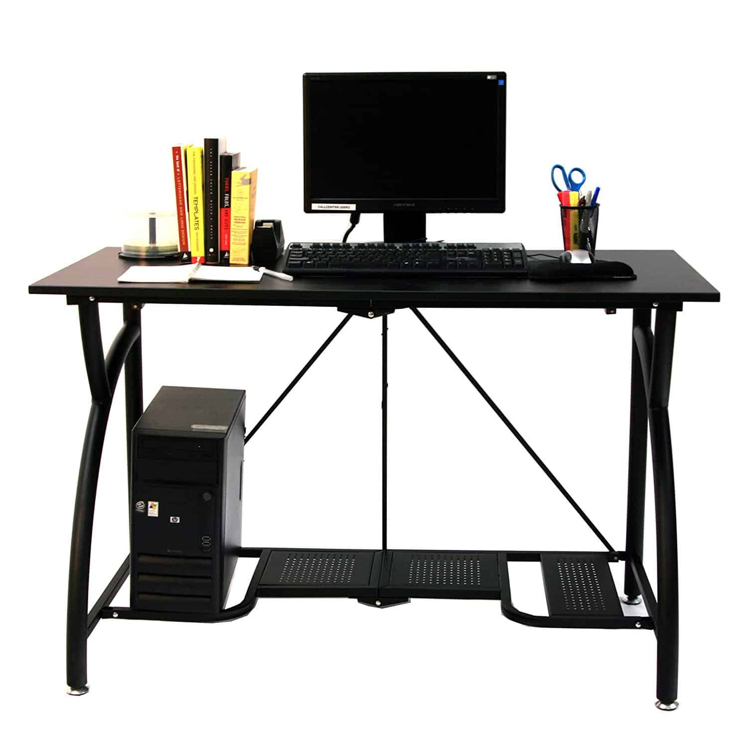 rolling marvelous portable small for computer flair wheels table desk with most black standing on