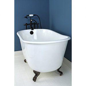 clawfoot bathtub for small areas