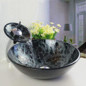 glass modern sink for small bathroom