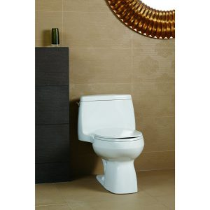 small compact toilet by Kohler