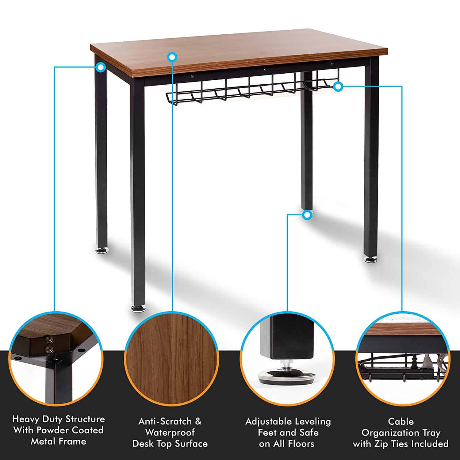 Small Computer Desk For Home Office 36 Length By The Oasis