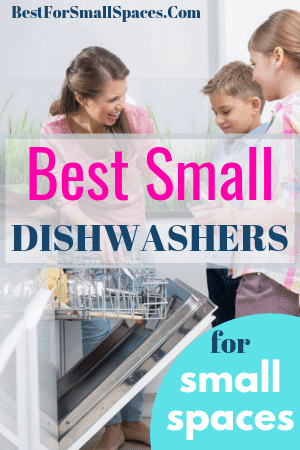 Mother-And-Children-Filling-Small-Dishwasher