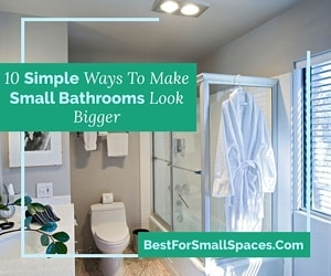 Make small bathrooms appear bigger