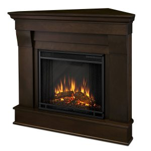 compact corner electric fireplace