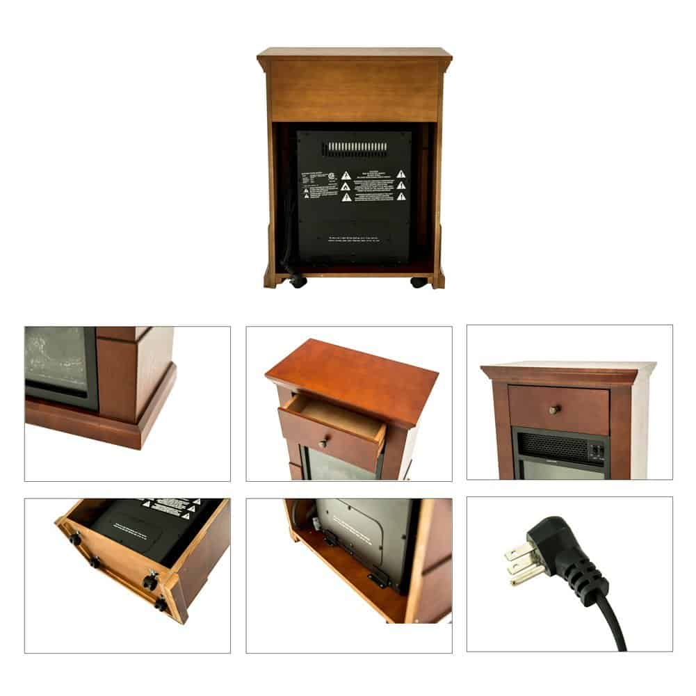compact portable electric heater