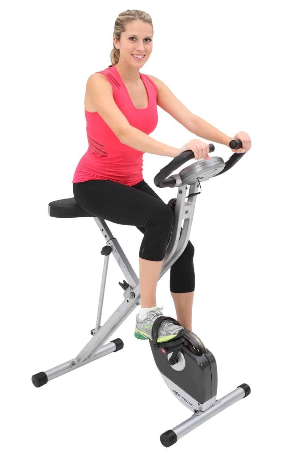 compact space saving exercise bike