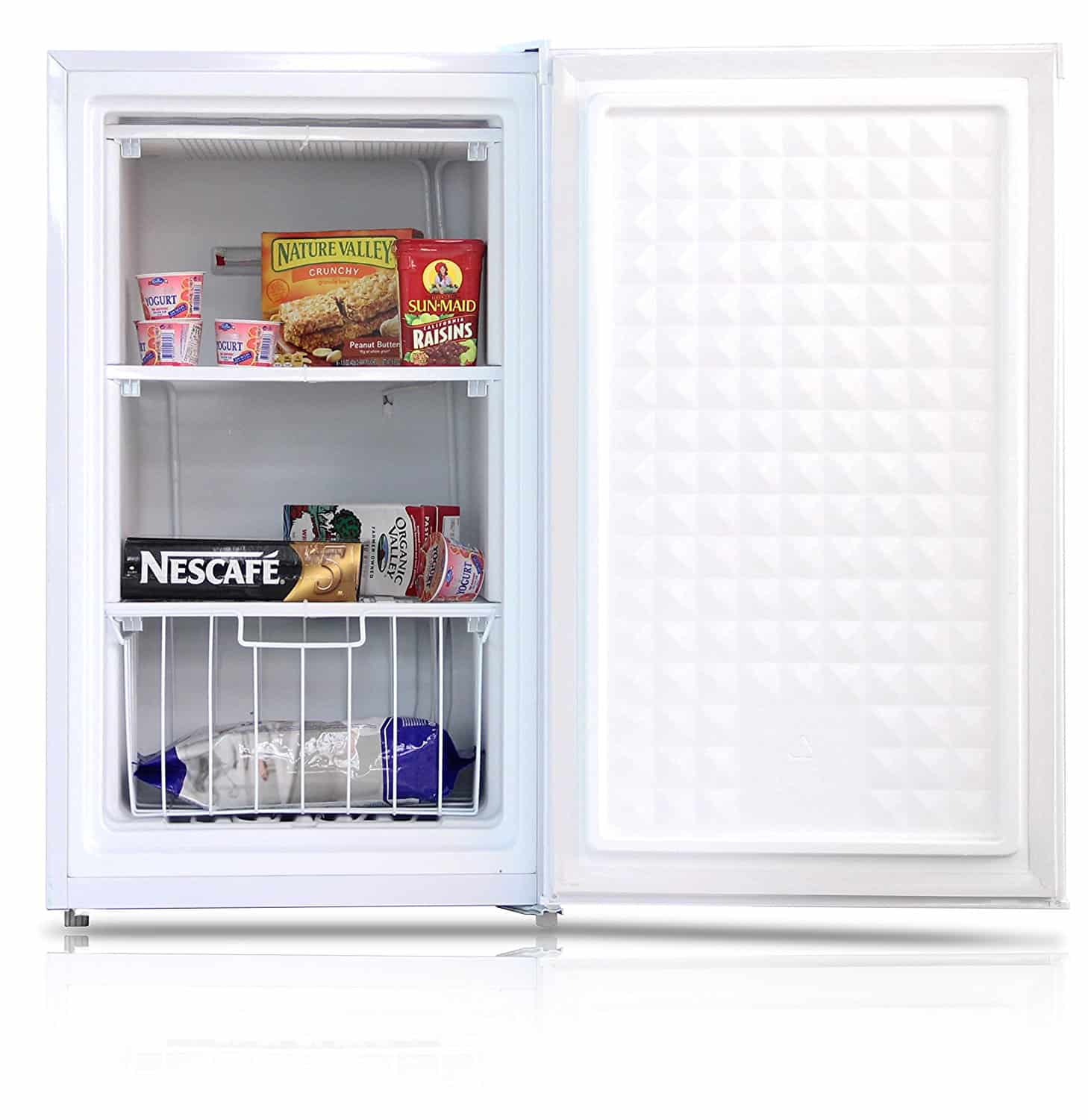 compact upright freezer for small spaces