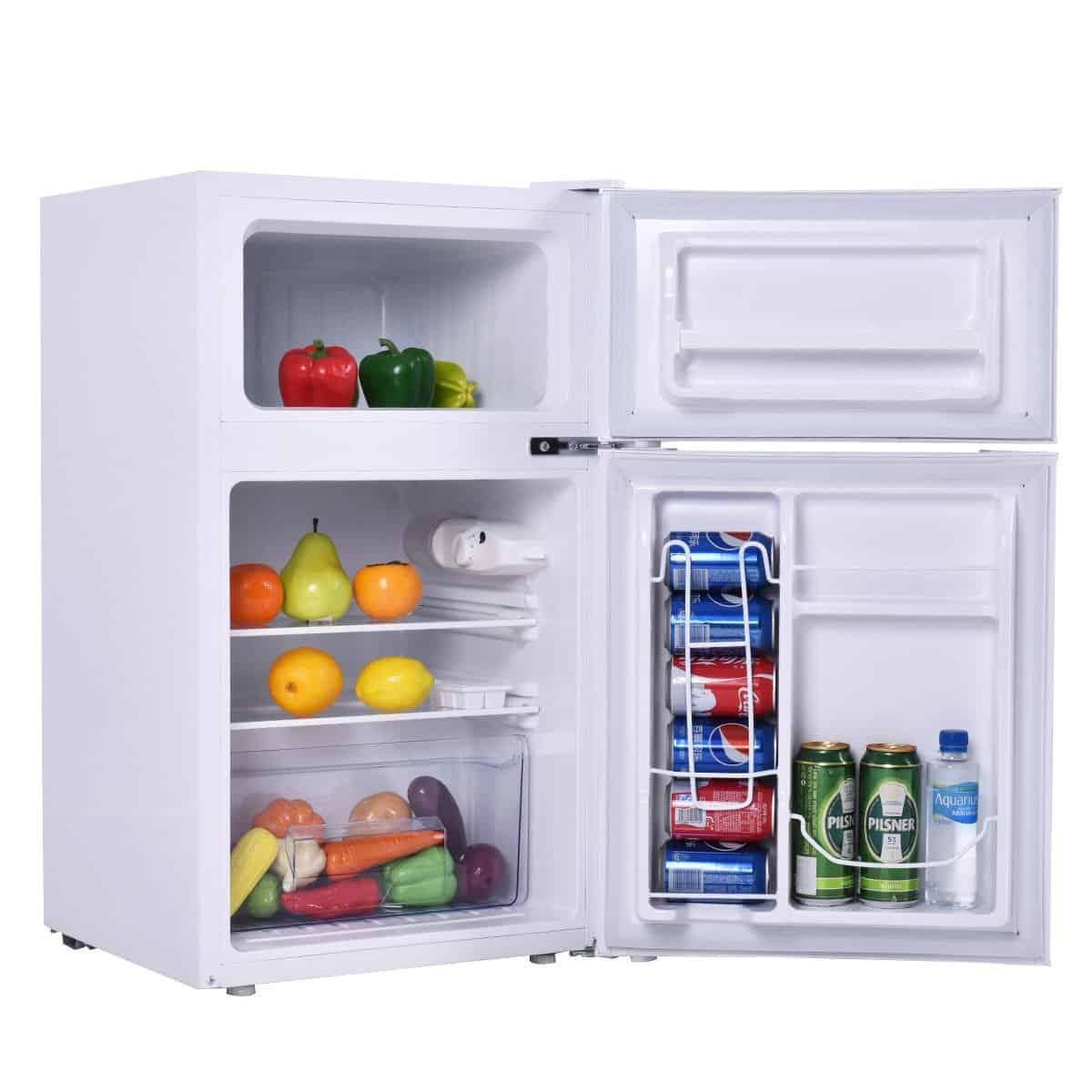 Beau Compact 2 Door Fridge Freezer Combo By Costway