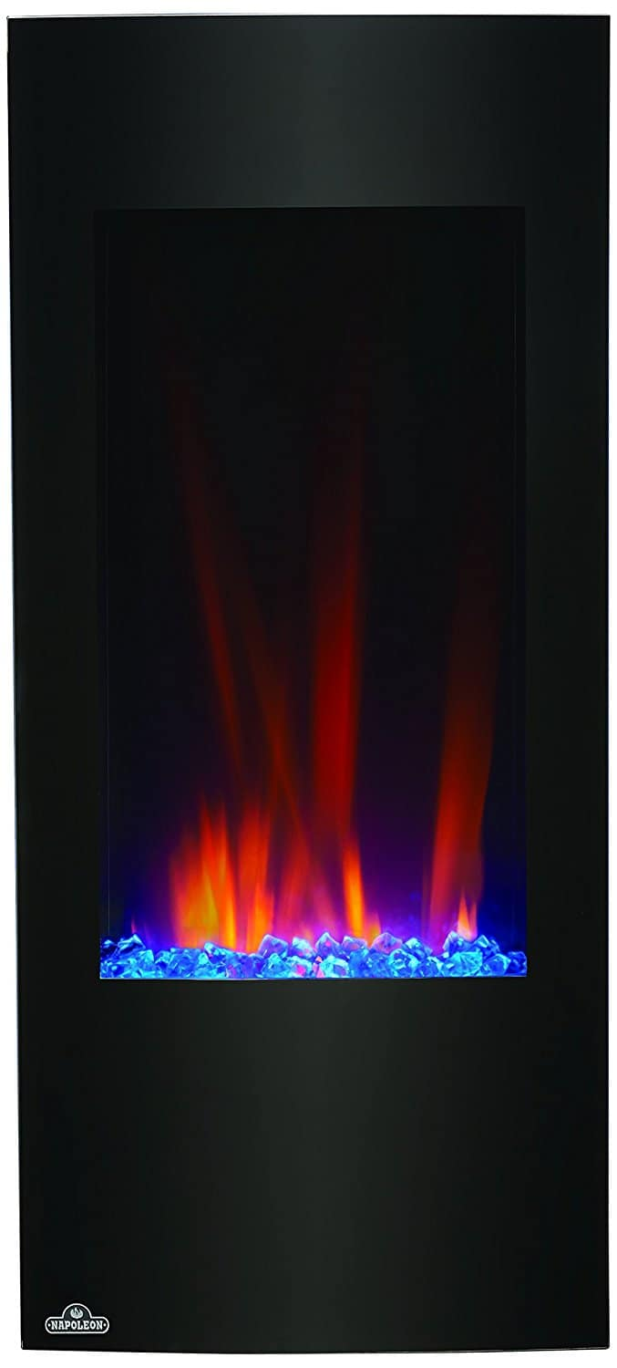 narrow vertical electric fireplace