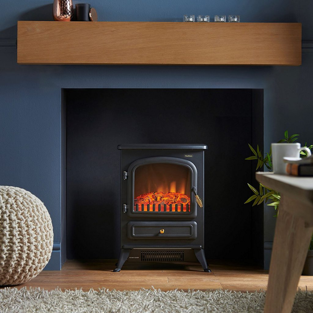 small electric stove fireplace