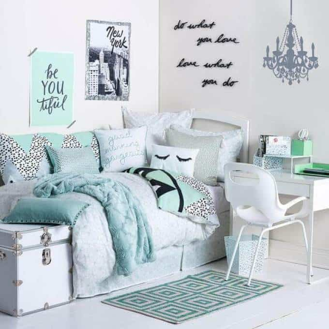 Beautiful Blue Girls Small Bedroom