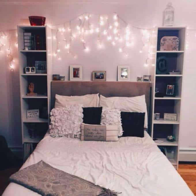 Girls Bedroom With Hanging Lights