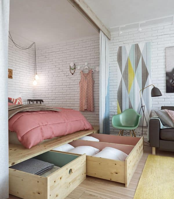 Girls Small Apartment Idea