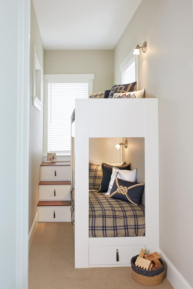 Narrow Bedroom With Bunk Bed