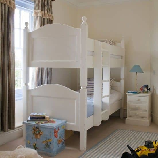 Pretty Girls Bedroom-White Bunk Bed