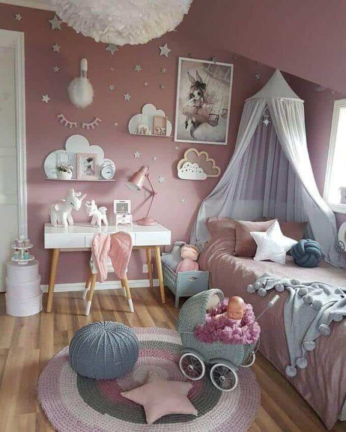 Princess Small Bedroom For Girls