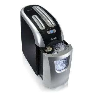 Small Paper Shredder with Pull Out Bin