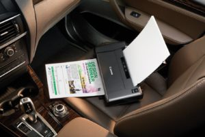 Small Portable Business Printer - On Car Seat