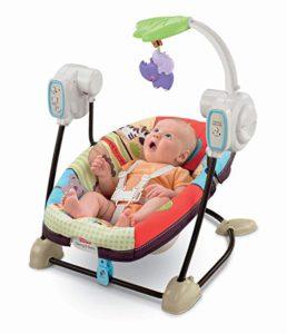 space saving baby swing