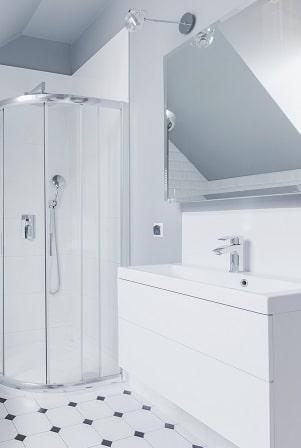Glass Mirror Small Bathroom