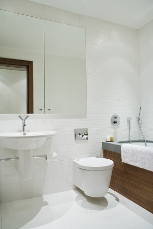 Minimalist small bathroom
